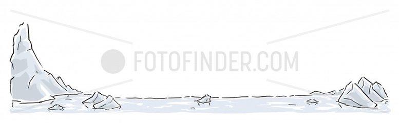 Arktis Rahmen Serie Landschaften