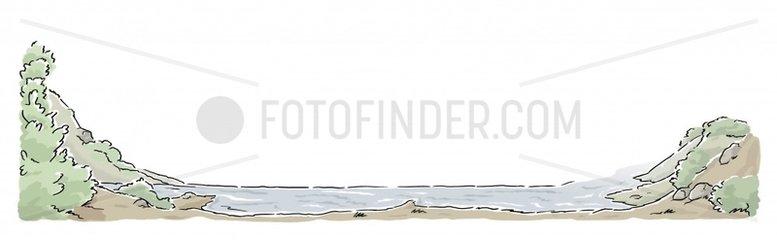 Fjord Rahmen Serie Landschaften