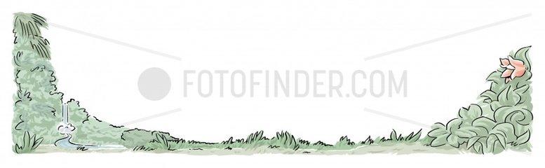 Urwald Rahmen Serie Landschaften