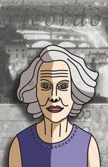 Serie People aeltere Frau Portrait Seniorin