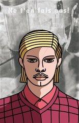 Serie People junger Mann Portrait blond grimmiger Blick
