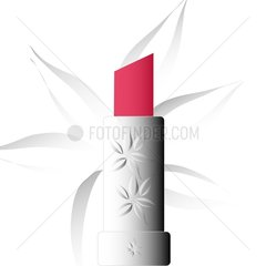 Lippenstift schraeg abgeflacht fuchsiarot
