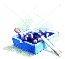 Aschenbecher Kippen Raucher Zigaretten