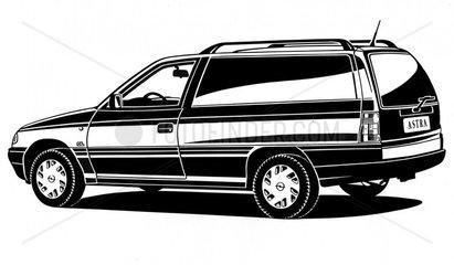 Opel Astra BJ 90er Jahre Auto