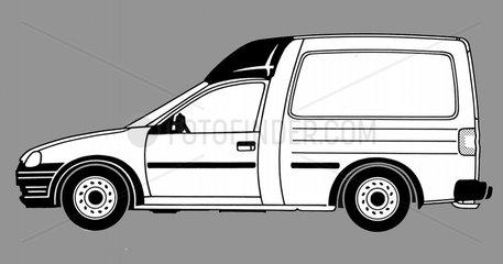 Opel BJ 90er Jahre Auto seitlich