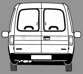 Opel BJ 90er Jahre Auto Hecktueren hinten