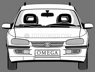 Opel Omega Frontansicht BJ 90er Jahre Auto