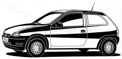 Opel Corsa BJ 90er Jahre Auto