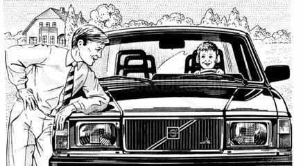 Volvo Vater und Sohn Sicheres Auto