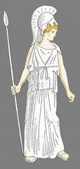 Athene Goettin der Kuenste Serie Goetter