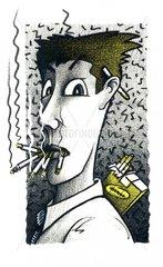 Kettenraucher Sucht suechtig Serie Rauchertypen