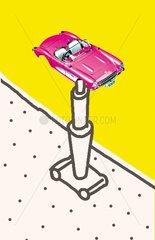 Serie witzige Logos Verkehrsmittel Werkstaette