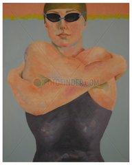 Schwimmerin frontal Anschnitt