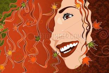 Jahreszeit Symbol Herbst