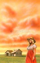 Dallas Farm Landwirtschaft Einsamkeit Frau Cover Literatur