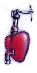 Herzpumpe symbolisch