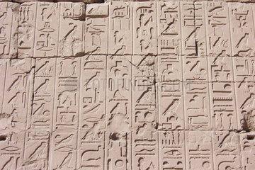 Karnak Tempel Relief Aegypten