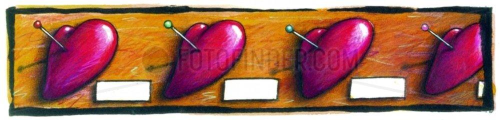 Aufgespiesste Herzen Herzensbrecher Liebe Reihe