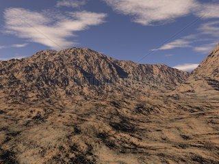 Landschaft 2 Steppe Wueste felsig einsam troslos menschenleer monoton