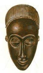 Afrikanische Maske Gesicht Totenmaske