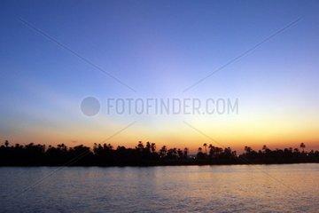 Nil Abend Aegypten