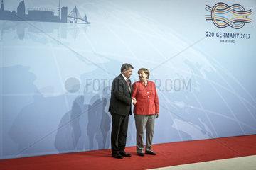 Guy Ryder Generaldirektor der Internationalen Arbeitsorganisation und Angela Merkel (CDU)  Bundeskanzlerin
