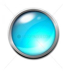 Button hellblau Blaulicht Symbol Farbe