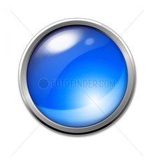 Button blau Blaulicht Symbol Farbe