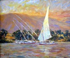 Auf dem Nil vor Assuan