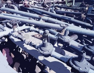 Rohrleitungen Verwirrrung Wasserleitungen Verbindungen Zuordnung