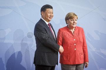 Xi Jinping  Staatspraesident Volksrepublik China / Generalsekretaer der Kommunistischen Partei Chinas  Angela Merkel (CDU)  Bundeskanzlerin