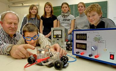 Chemnitz  Deutschland  naturwissenschaftliche Experimente einer 9. Klasse