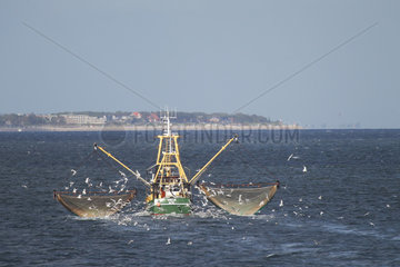Wittduen  Deutschland  Kutter in der Nordsee