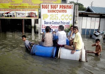 Philippinen. Ueberschwemmungen nach schwerem Sturm