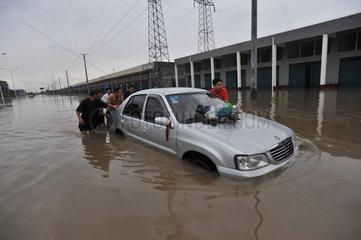 China  Sommerregen mit Ueberschwemmungen