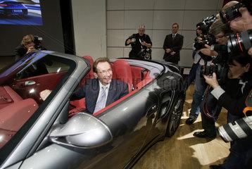 IAA 2009 - Michael Macht  Vorstandsvorsitzender der Porsche AG