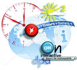 Informationsdienste Nachrichten Wetterbericht rund um die Uhr Nachrichten