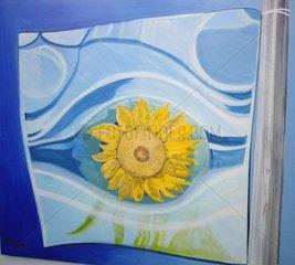Sonnenblume Glasschale