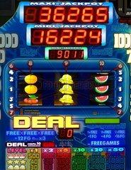 Ausschnitt eines Geldspielautomaten-Displays
