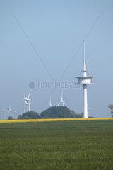 Fehmarn  Deutschland  Fernmeldeturm des Typs -FMT 11- bei Puttgarden auf der Insel Fehmarn
