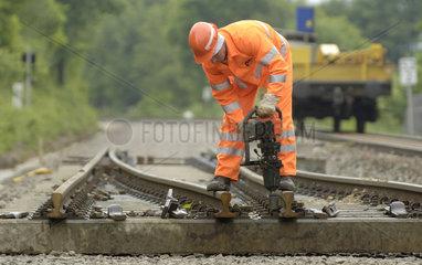 Chemnitz  Deutschland  Gleisbauarbeiten
