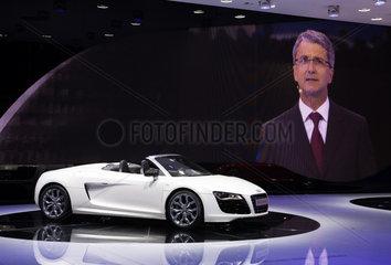 IAA 2009 - Vorstellung des Audi R8 Spyder