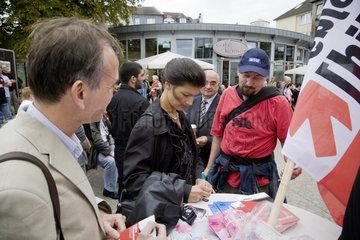 Bundestagswahlkampf 2009 - Wahlkampfkundgebung der Partei Die Linke