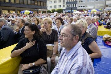 Bundestagswahlkampf 2009 - FDP Kundgebung mit Guido Westerwelle  FDP Bundesvorsitzender