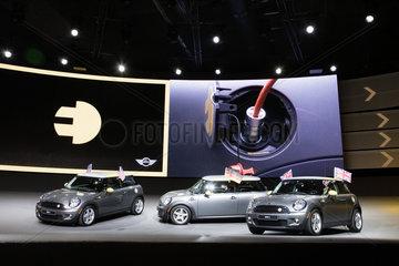 IAA 2009 - Messestand der BMW AG - Vorstellung des MINI E