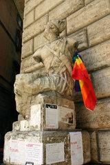 Pasquino  ort wo die Roemer seit immer die Kirche und die Politik geisseln.