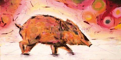 Wildschwein malerischer Hintergrund
