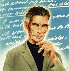 Samuel Beckett irischer Schriftsteller Portrait