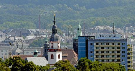 Chemnitz  Deutschland  Luftbild des Alten Rathaus in Chemnitz