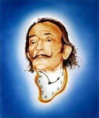 Salvador Dalí surrealistischer spanischer Kuenstler Portrait
